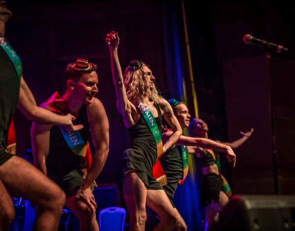 The Coming Back Out Ball dancers. Photo by Bryony Jackson.