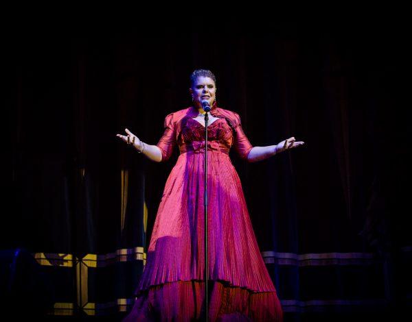 Deborah Cheetman singing an aria at The Coming Back Out Ball. Photo by Bryony Jackson.