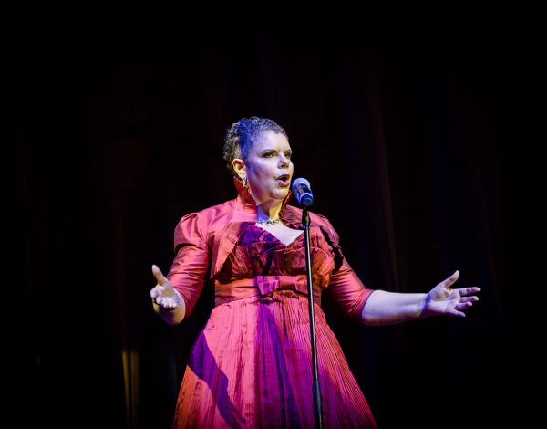 The sublime Deborah Cheetman performing. Photo by Bryony Jackson.