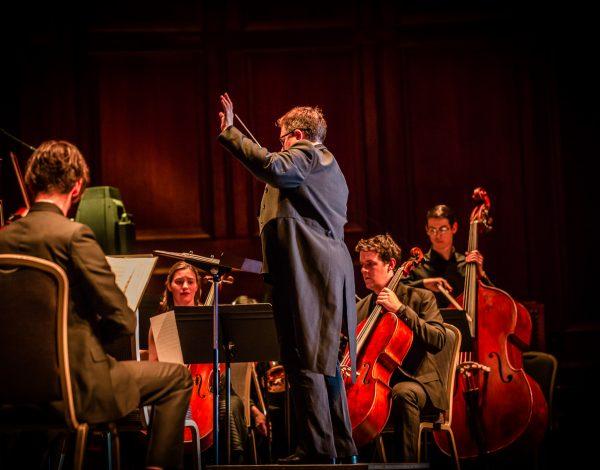 Conductor Kathleen Mcguire. Photo by Bryony Jackson.