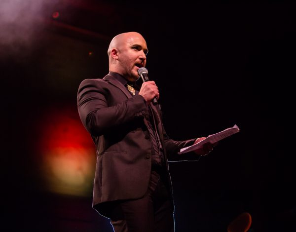 Artistic Director Tristan Meecham at The Coming Back Out Ball. Photo by Bryony Jackson.