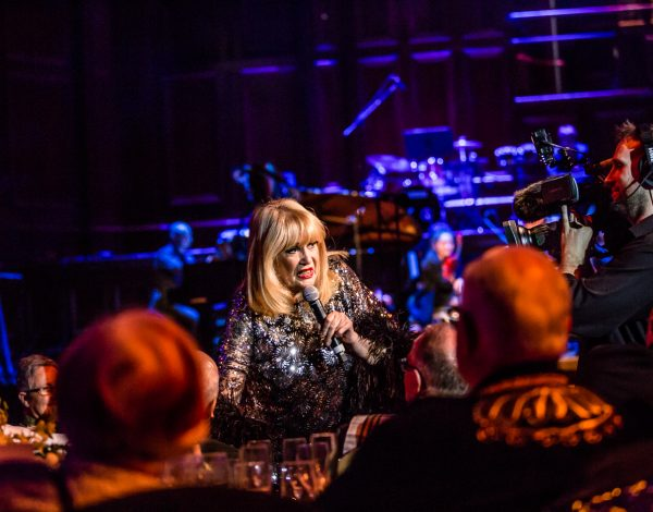 Carlotta performing at The Coming Back Out Ball. Photo by Bryony Jackson.