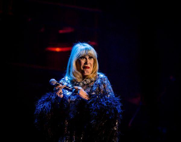 "Carlotta performing ""I'm still here"". Photo by Bryony Jackson."